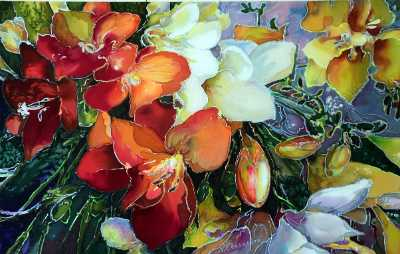Freesias in Bloom, by Natalia Charapova